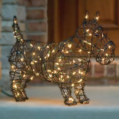 The Illuminated Steel Frame Dog Sculptures.