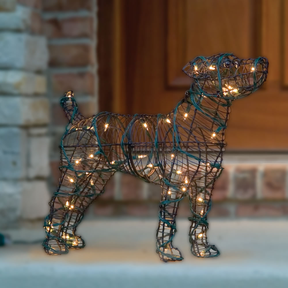 The Illuminated Steel Frame Dog Sculptures 2