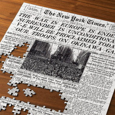 The Select-A-Date New York Times Jigsaw Puzzle.