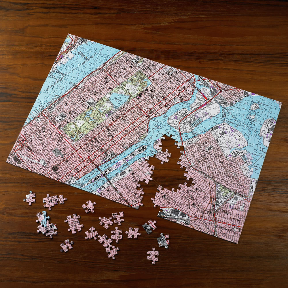 The Personalized Topographic Map Jigsaw Puzzle Hammacher Schlemmer - Florida map jigsaw puzzle