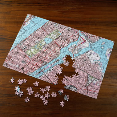 The Personalized Topographic Map Jigsaw Puzzle.