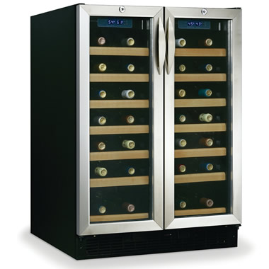 The 54 Bottle Dual Temperature Zones Wine Cabinet.