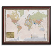 The Personalized World Travel Map.
