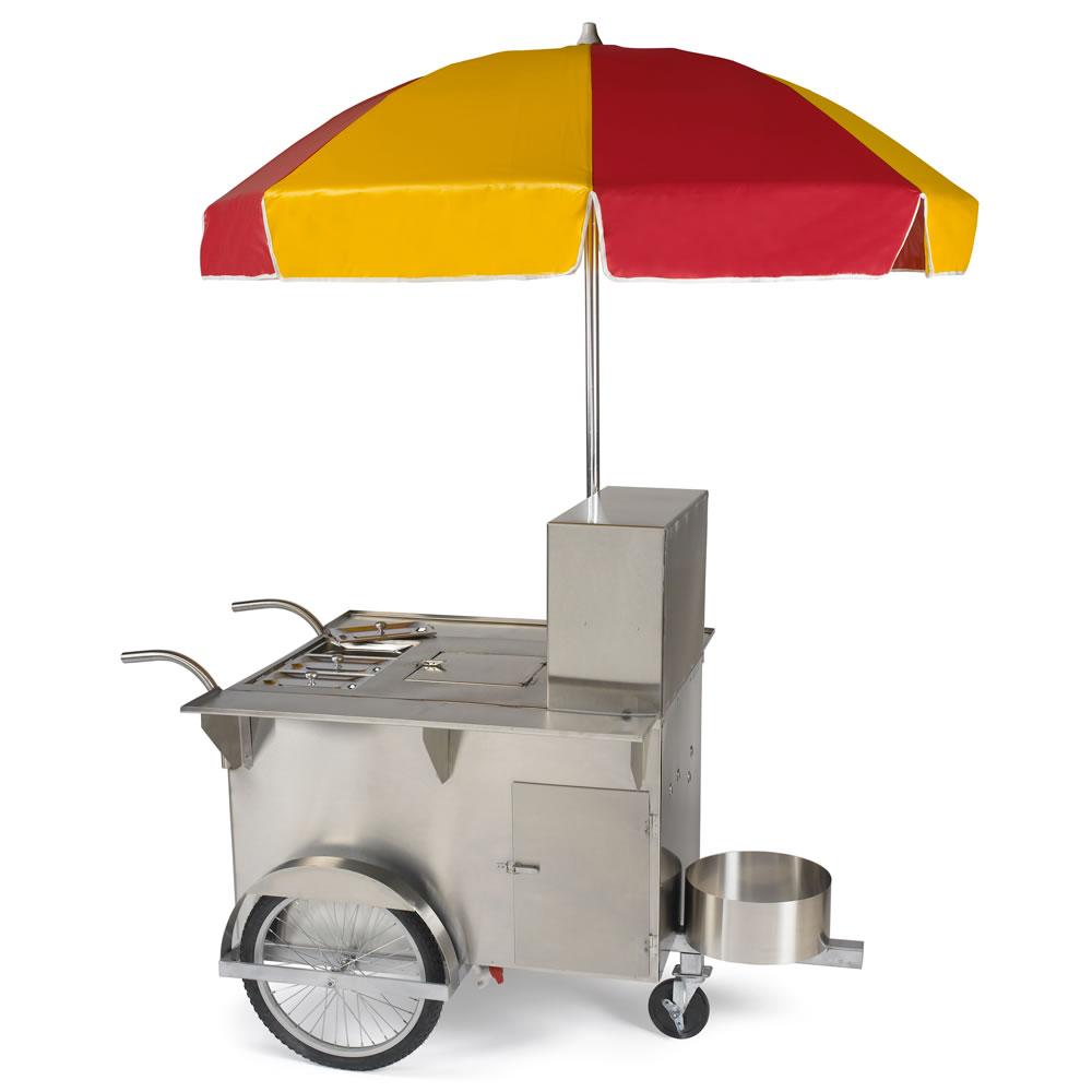 The Authentic New York Hot Dog Vendor Cart Hammacher