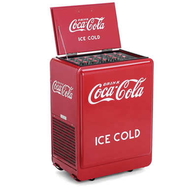 The Classic Coca-Cola Refrigerated Chest.