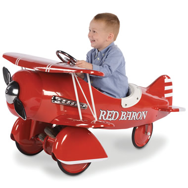 The Red Baron Pedal Biplane.