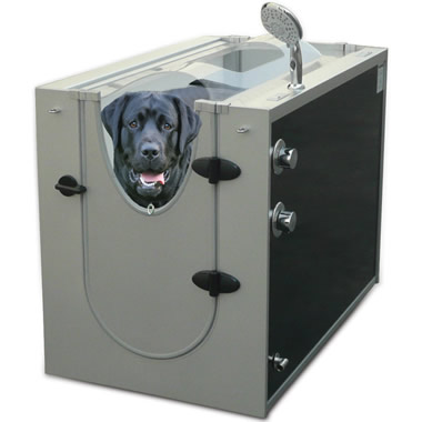 The Canine Shower Stall.