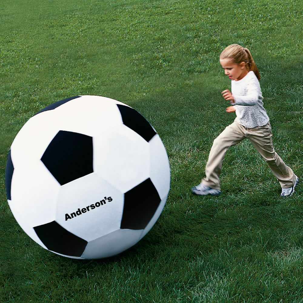 The Giant 40 Quot Personalized Soccer Ball Hammacher Schlemmer
