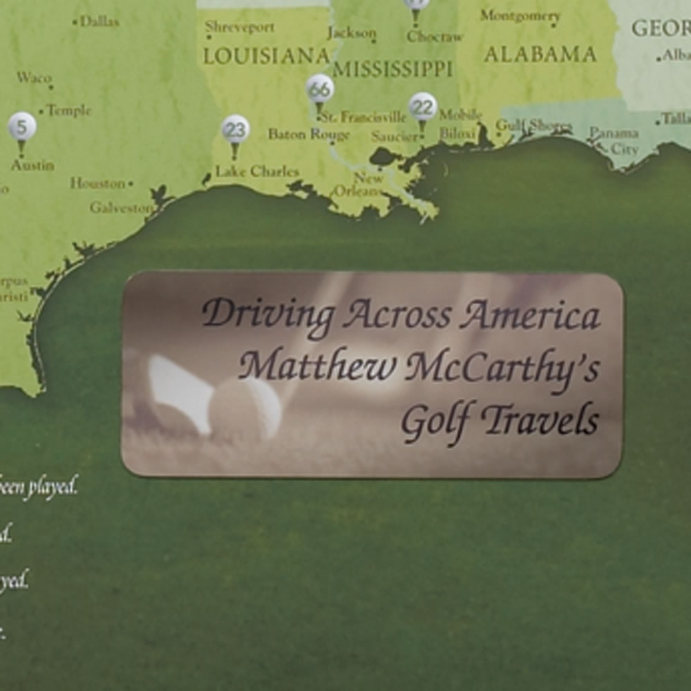 The Golfer's Personalized Travel Map 3