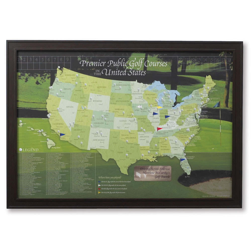 The Golfer's Personalized Travel Map 1