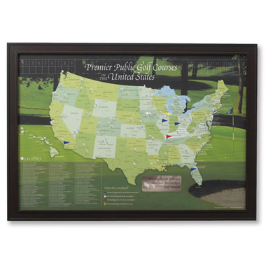 The Golfer's Personalized Travel Map.