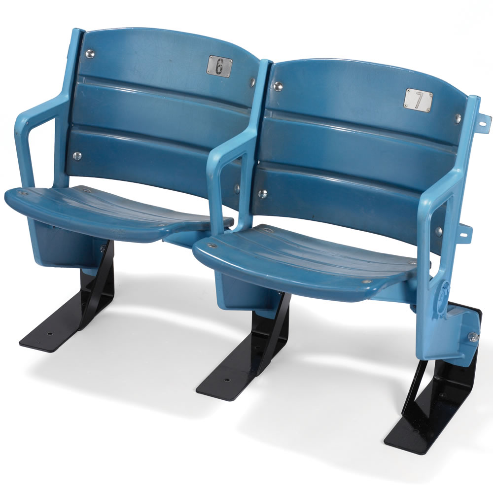 Stadium chair amp stadium bleacher chairs sportsunlimited com source - Prev Next This Patented Stadium Chair Source The Authentic Yankee Stadium Seats Hammacher Schlemmer