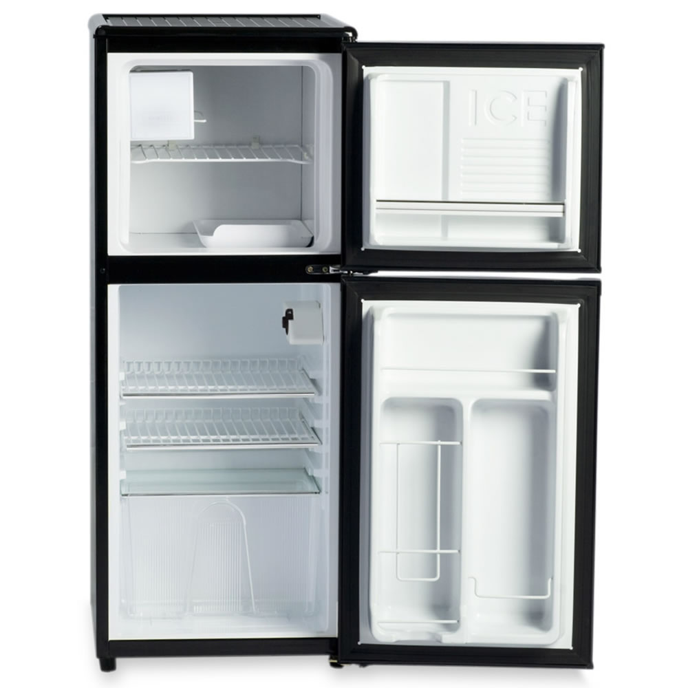 The only compact refrigerator with ice maker hammacher - How to make a small fridge ...