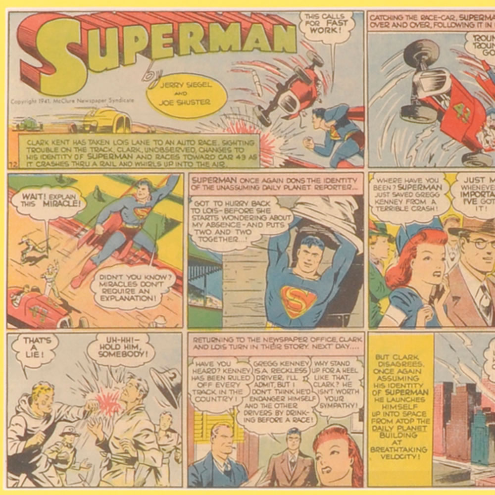 The Genuine 1940's Superman Comic Strip2