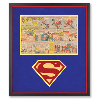 The Genuine 1940's Superman Comic Strip.
