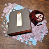 The Heirloom Edition Personalized Topographic Jigsaw Puzzle.