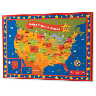 The Children's Personalized Travel Map.