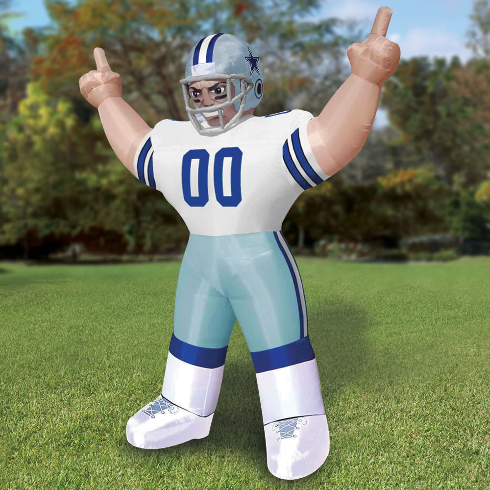 The Giant Inflatable Standing Nfl Player Hammacher Schlemmer
