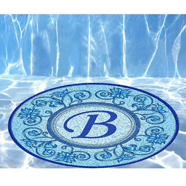 The Instant Monogrammed Pool Mosaic.