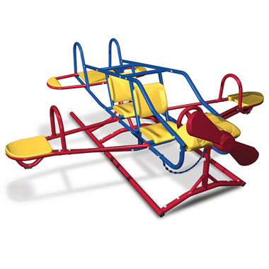 The Seven Child Airplane Teeter Totter.
