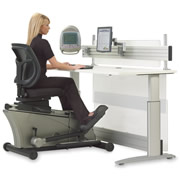 The Elliptical Machine Office Desk.