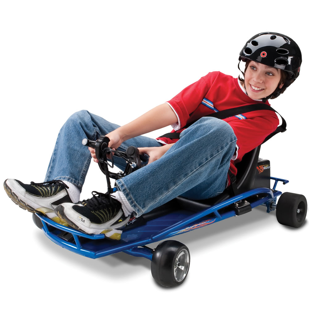 Cool Toys For Teenage Boys : The corner drifting go cart hammacher schlemmer