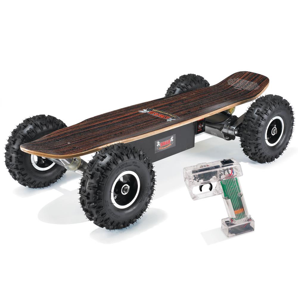 The all terrain electric skateboard hammacher schlemmer