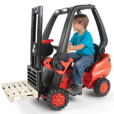 The Working Pedal Powered Forklift.