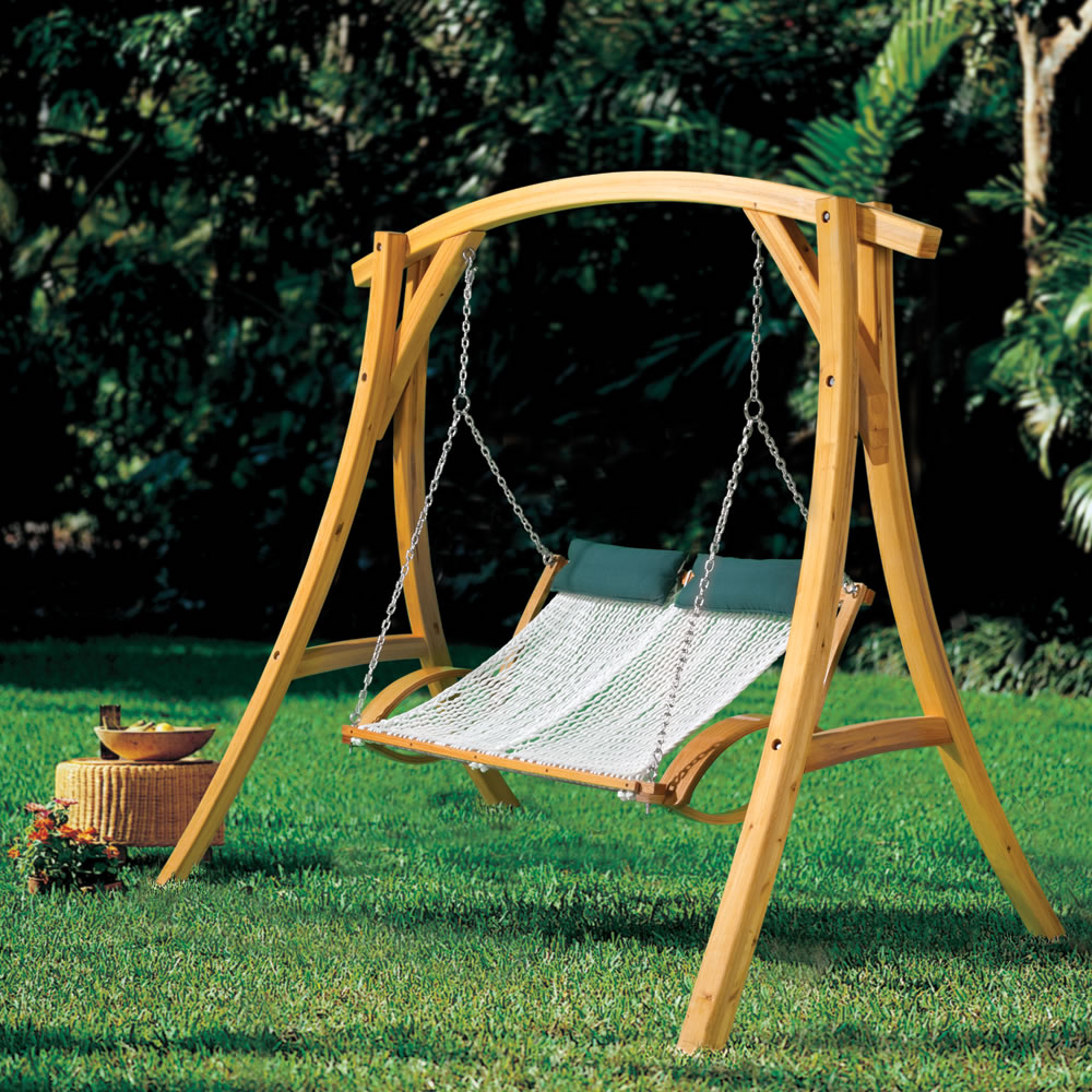 The Arched Cypress Swing Stand  3