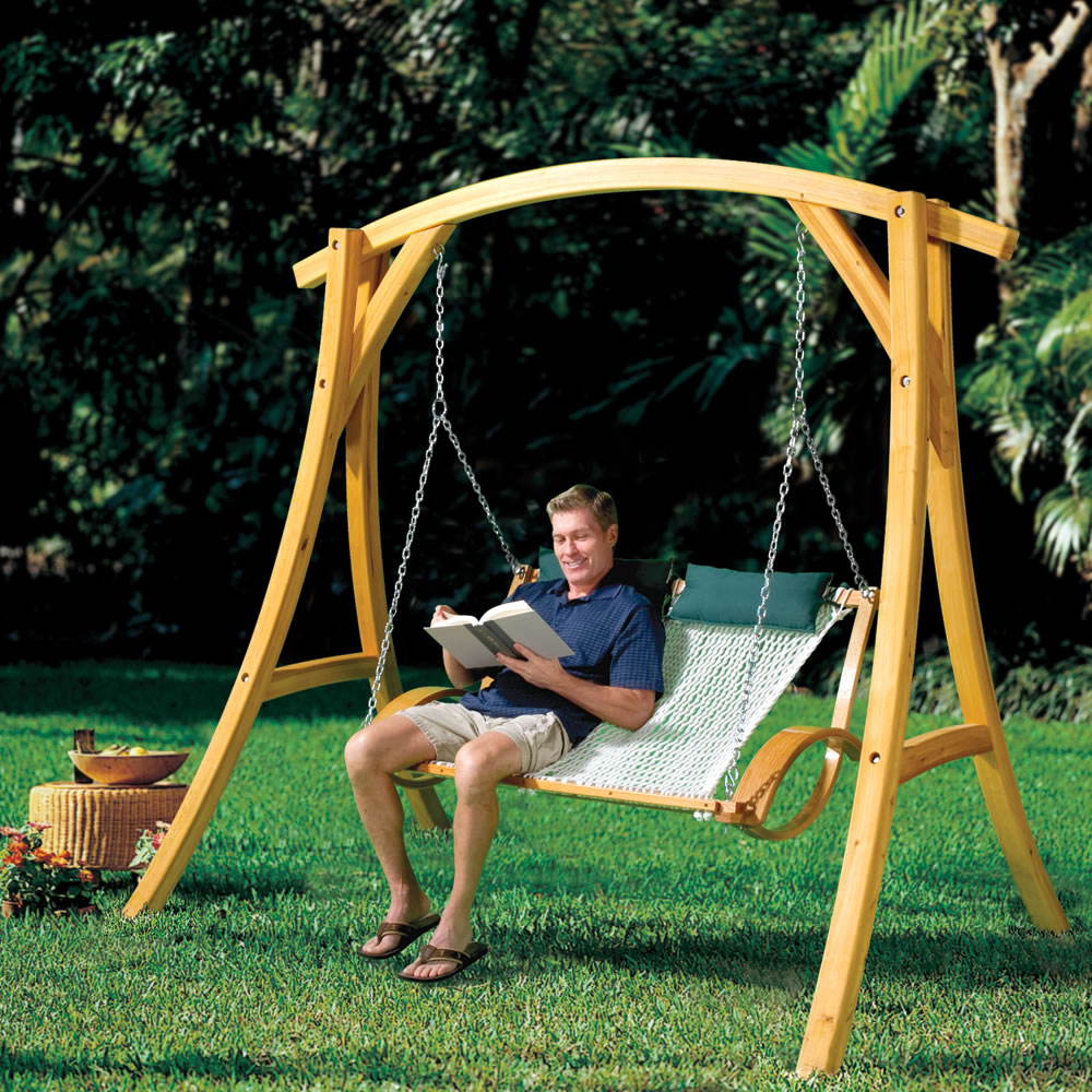 The Arched Cypress Swing Stand  2