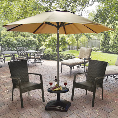 The Rolling Market Umbrella Stand.
