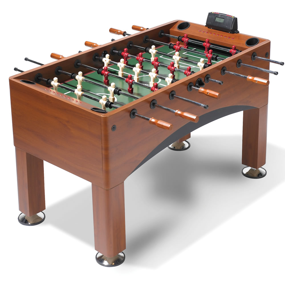 The Handicapping Foosball Table Hammacher Schlemmer
