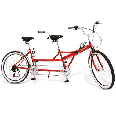 The Folding Tandem Bicycle.