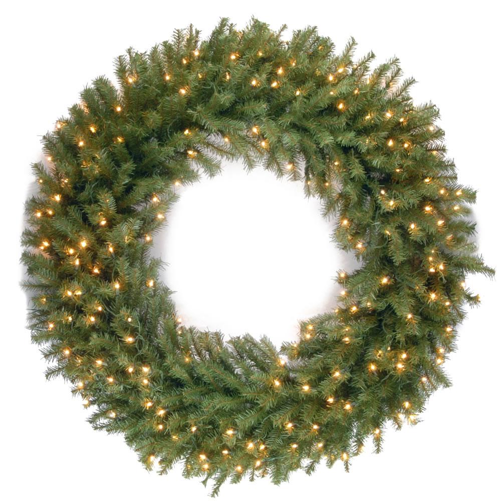 The Oversized Prelit Wreath - Hammacher Schlemmer
