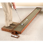 The Handcrafted Adjustable Putting Green.