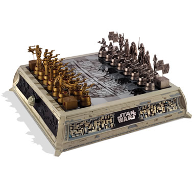 The Star Wars Rebels vs. Empire Chess Set.