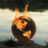 The Olympic Village Fire Pit Globe.