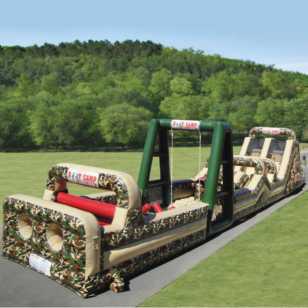 The 85 Foot Inflatable Military Obstacle Course 2