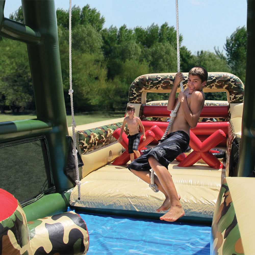 The 85 Foot Inflatable Military Obstacle Course 4