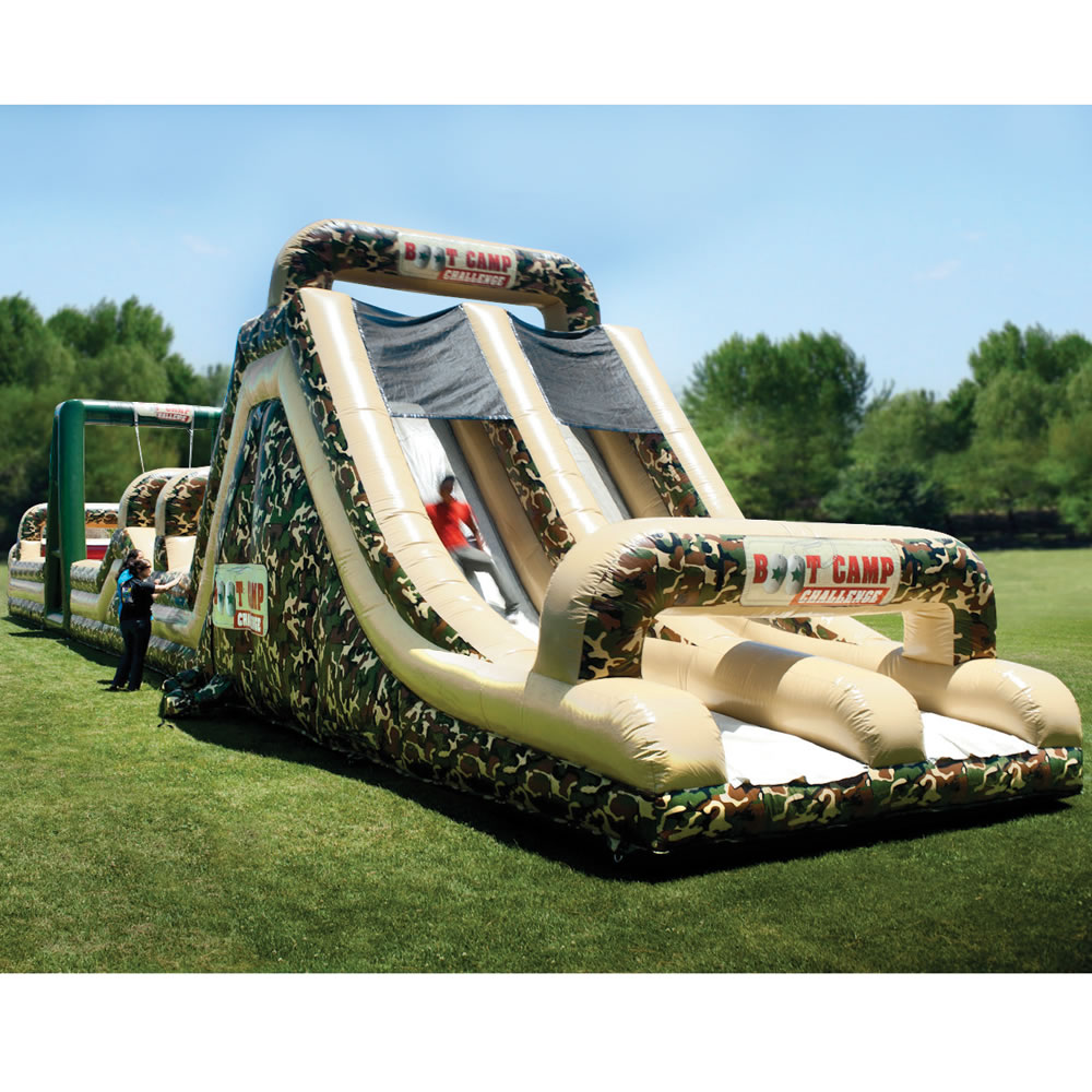The 85 Foot Inflatable Military Obstacle Course 5