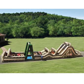 The 85 Foot Inflatable Military Obstacle Course.