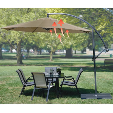 The Convection Cooling Cantilever Umbrella.