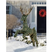 The Illuminated Jumping Topiary Reindeer.