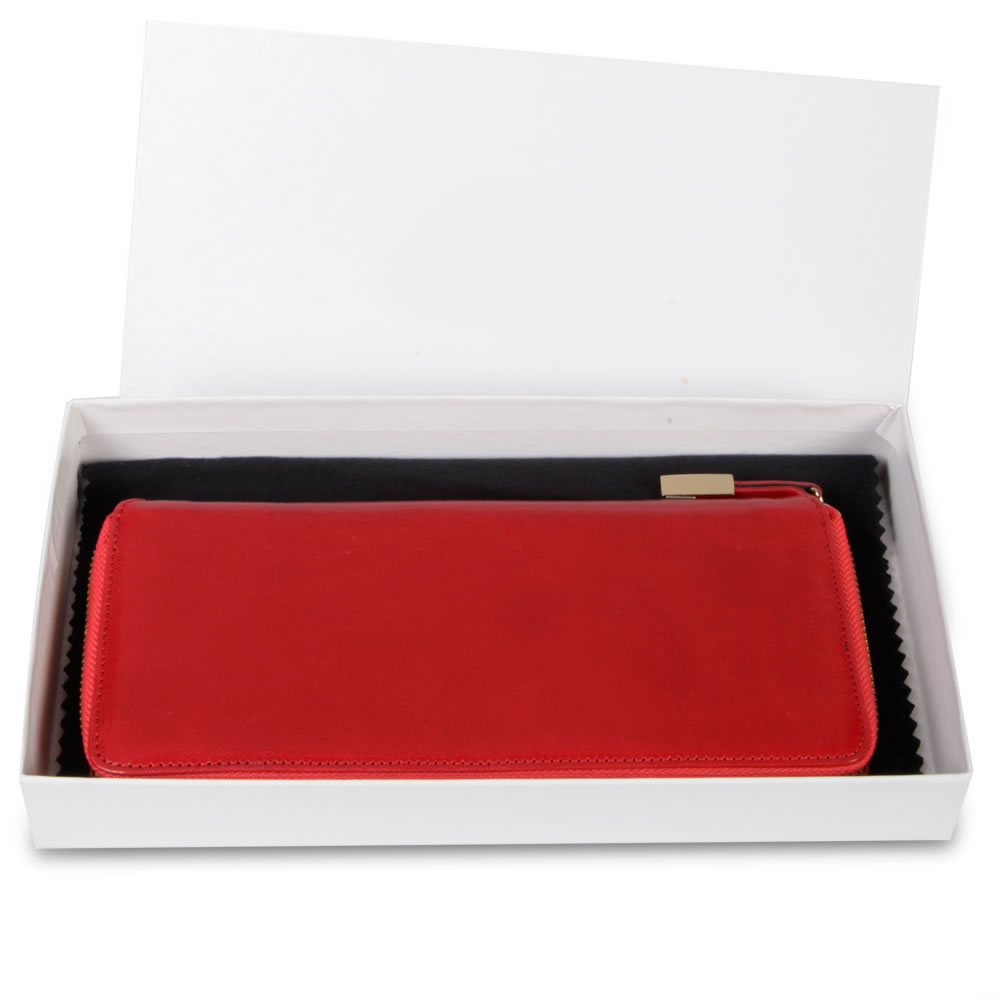 The Lady's Italian Leather Zippered Wallet (Aniline Dyed Cowhide)3