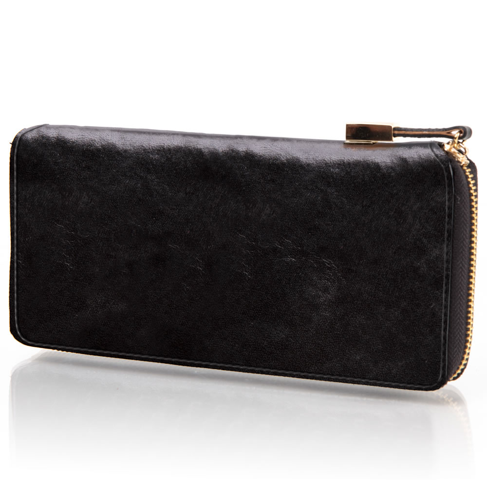 The Lady's Italian Leather Zippered Wallet (Aniline Dyed Cowhide)4