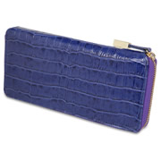 The Lady's Italian Leather Wallet (Crocodile Skin Pattern).