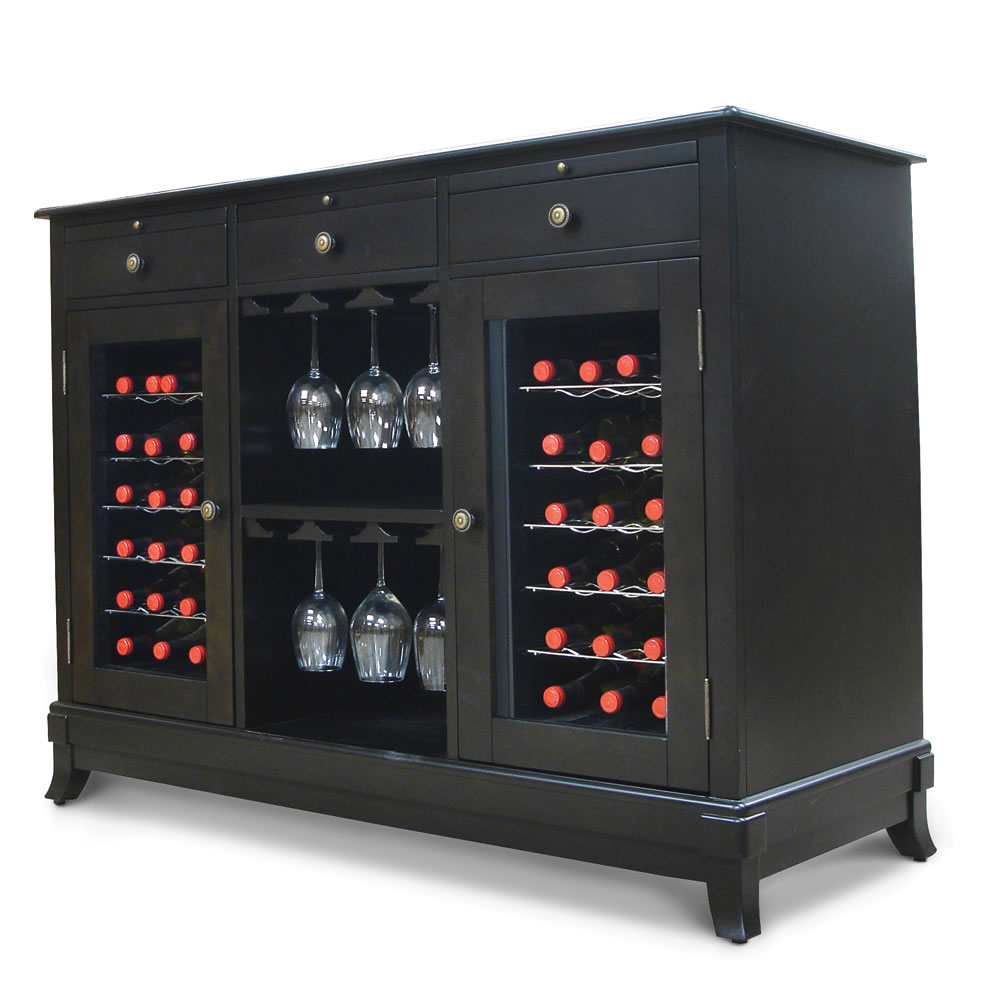 The Sommelier's Dual Temperature Wine Credenza 3