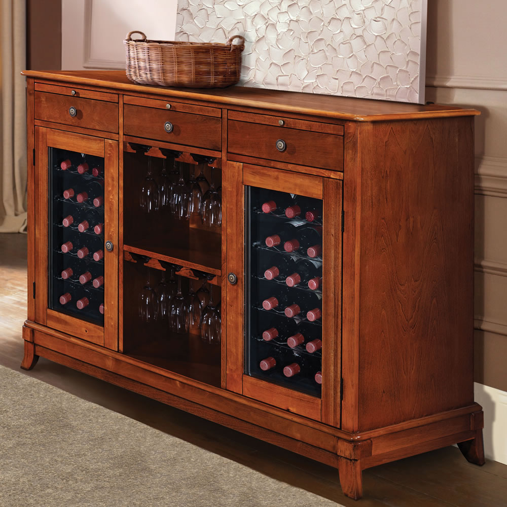 The Sommelier's Dual Temperature Wine Credenza 1