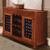 The Sommelier's Dual Temperature Wine Credenza.