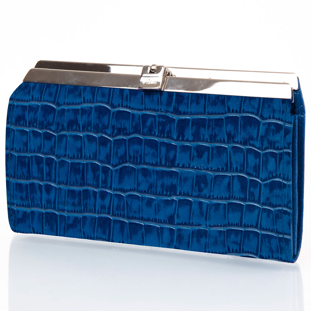 The Lady's Italian Leather Accordion Wallet  (Crocodile Skin Embossed)5